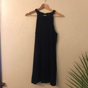 Express Black High Neck Sleeveless Mini Dress